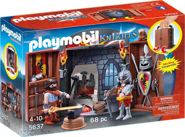 Playmobil® Aufklapp-Spiel-Box »Ritterschmiede« (5637), »Knights«