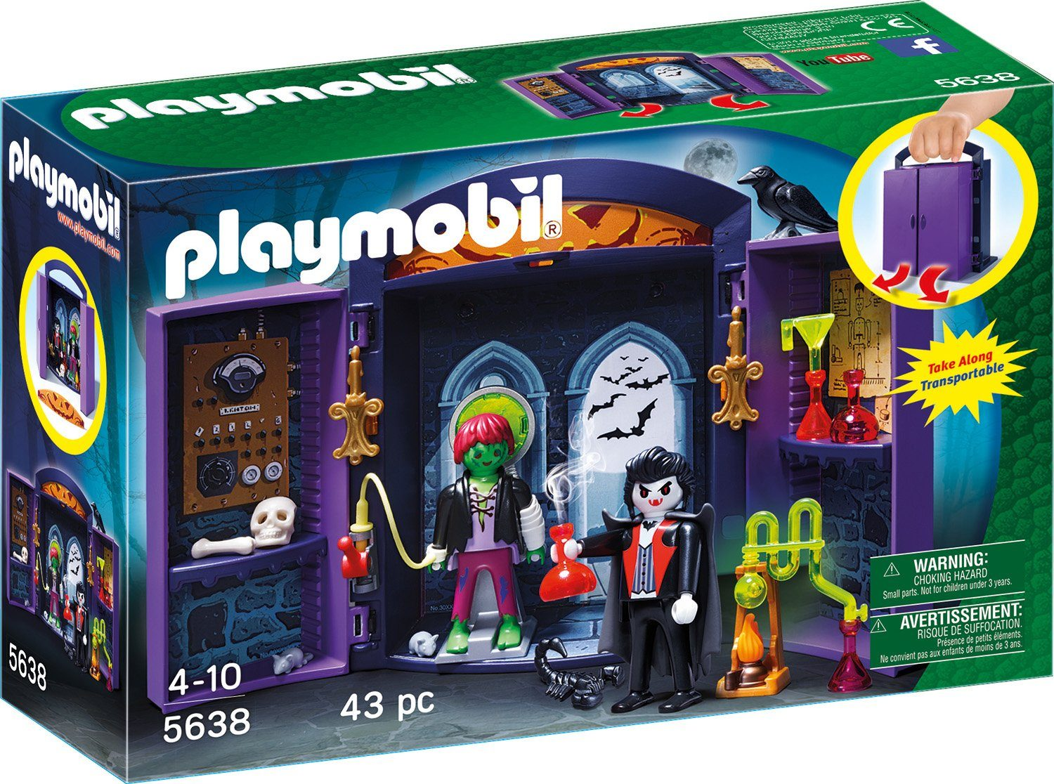 Playmobil® Aufklapp-Spiel-Box »Monsterburg« (5638), »City Action«