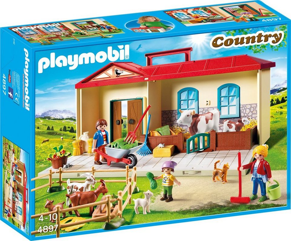 playmobil mitnehm bauernhof 4897 country otto. Black Bedroom Furniture Sets. Home Design Ideas