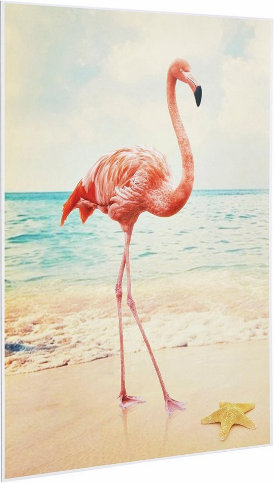 Home affaire Deco Panel »Flamingo«, 60/90 cm in rosa/weiß
