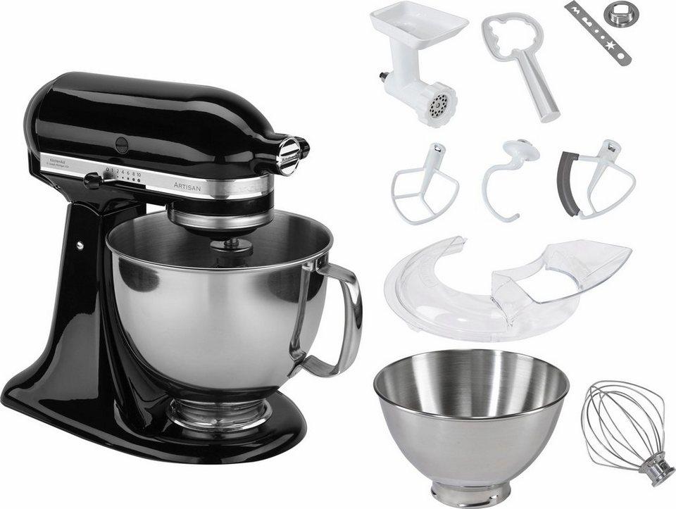 KitchenAid® Küchenmaschine 5KSM125PSEOB Artisan + Zubehör im Wert von 214,-€ in schwarz