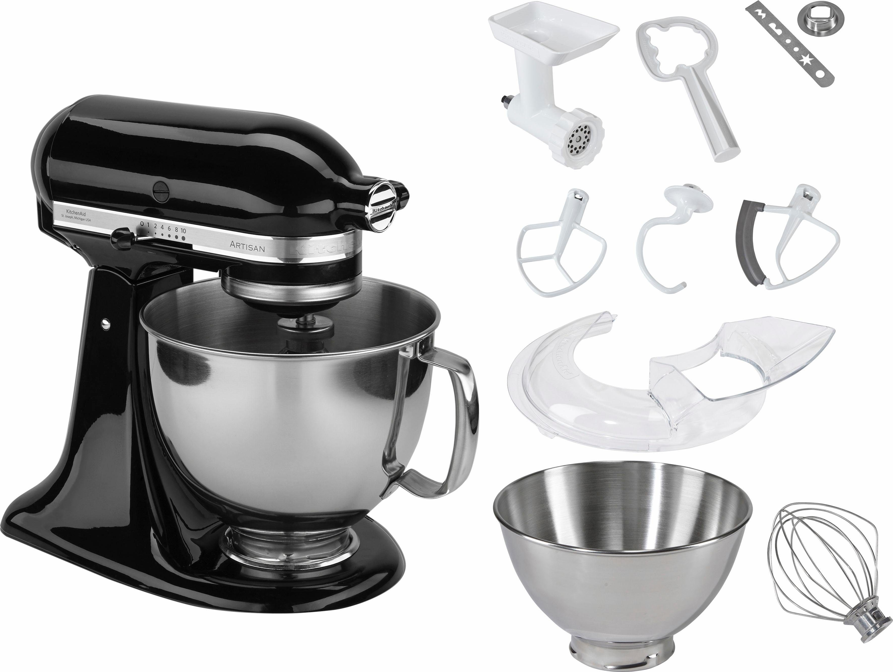 KitchenAid® Küchenmaschine 5KSM125PSEOB Artisan + Zubehör im Wert von 214,-€