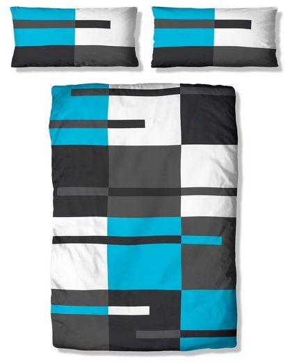 Bettwäsche »Meggi«, my home, mit modernem Karo und trendigen Streifen