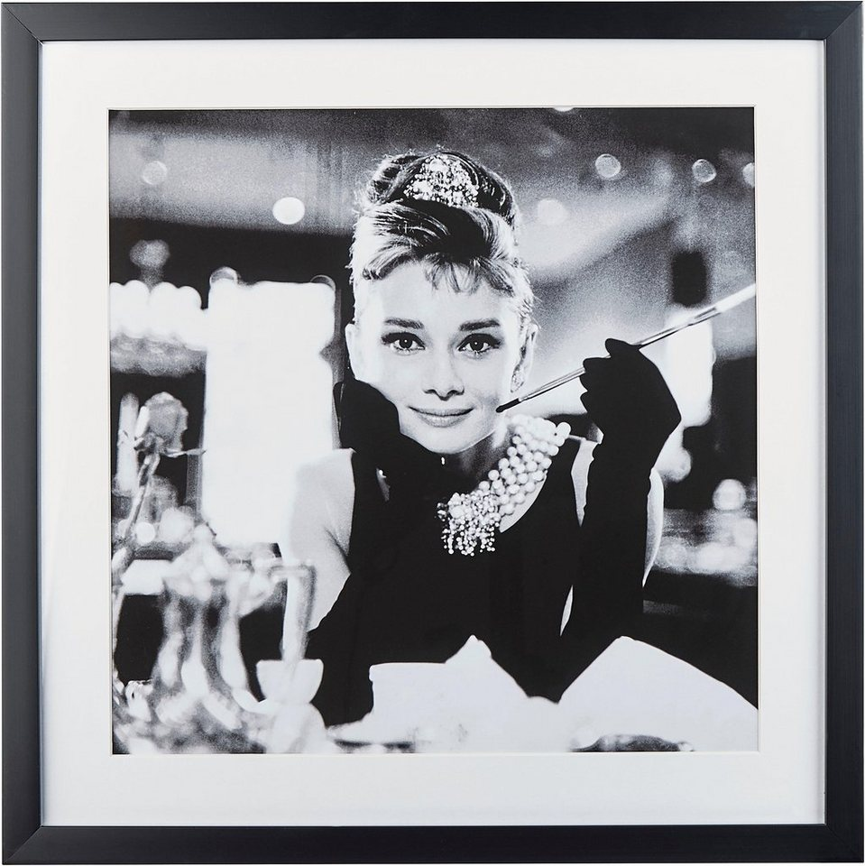 g c gerahmte fotografie celebrities audrey hepburn motiv 2 40 40 cm online kaufen otto. Black Bedroom Furniture Sets. Home Design Ideas