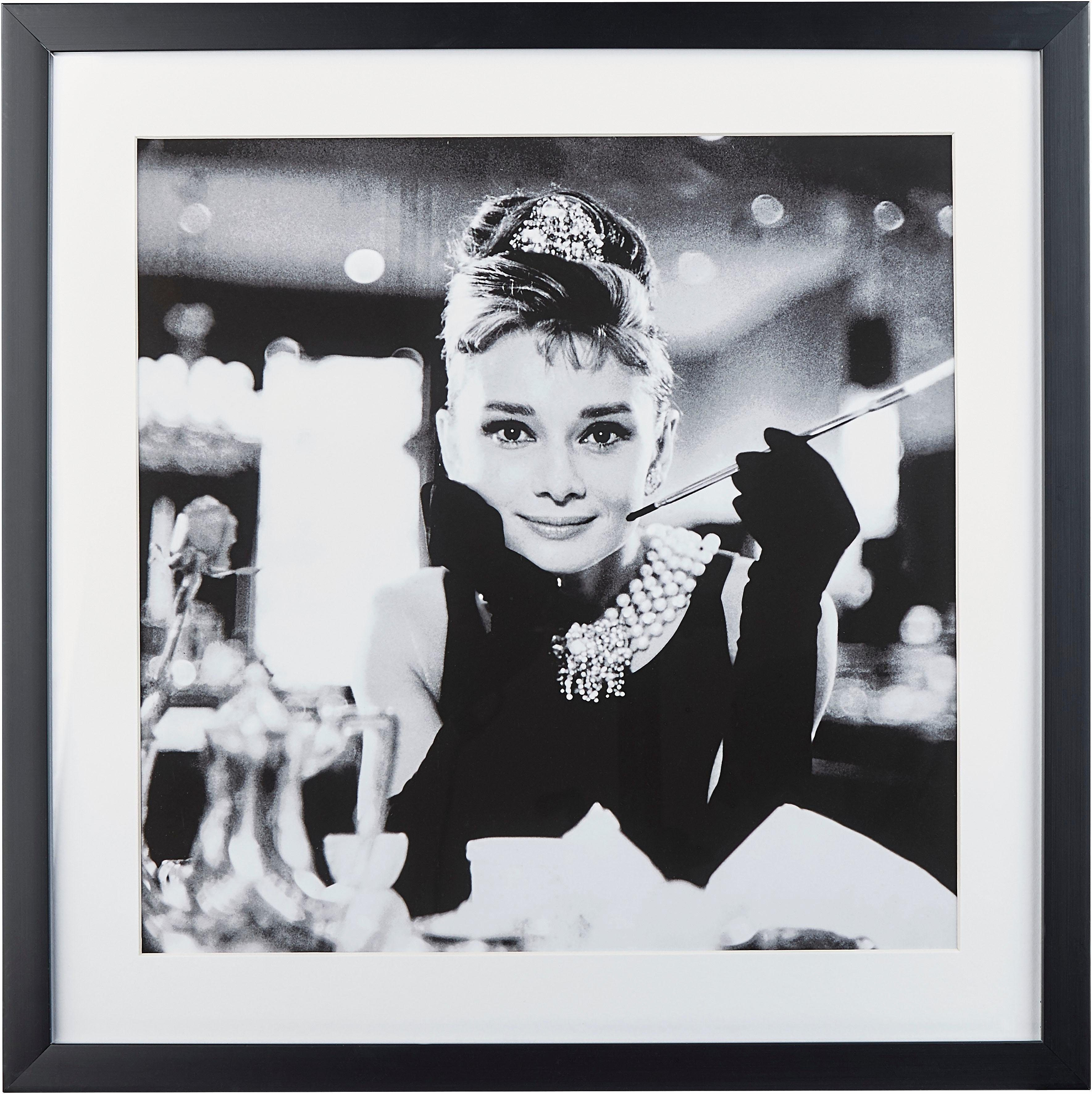G&C gerahmte Fotografie »Celebrities: Audrey Hepburn Motiv 2«, 40/40 cm