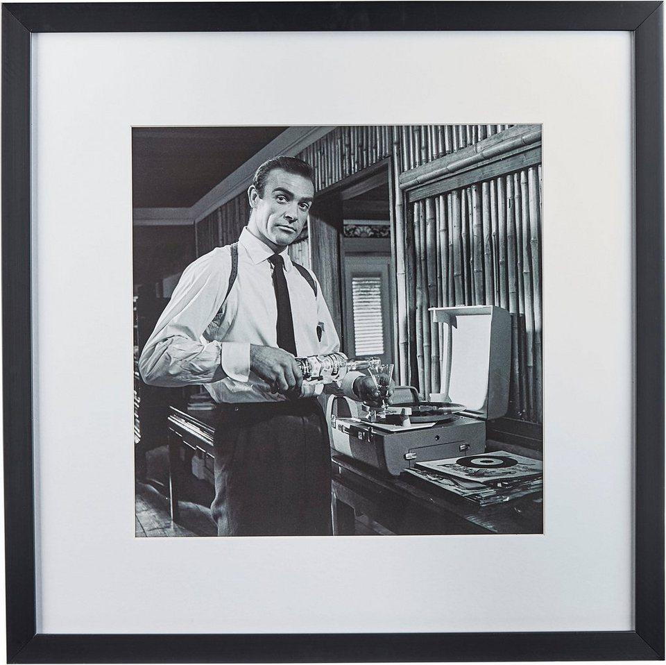 G&C gerahmte Fotografie »Celebrities: Humphrey Bogart«, 40/40 cm in Schwarz/weiß