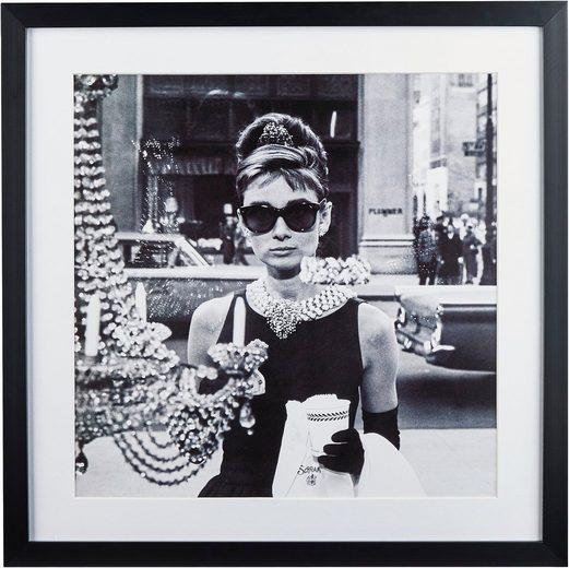 G&C Bild »Celebrities: Audrey Hepburn Motiv 1«, 40/40 cm, gerahmt