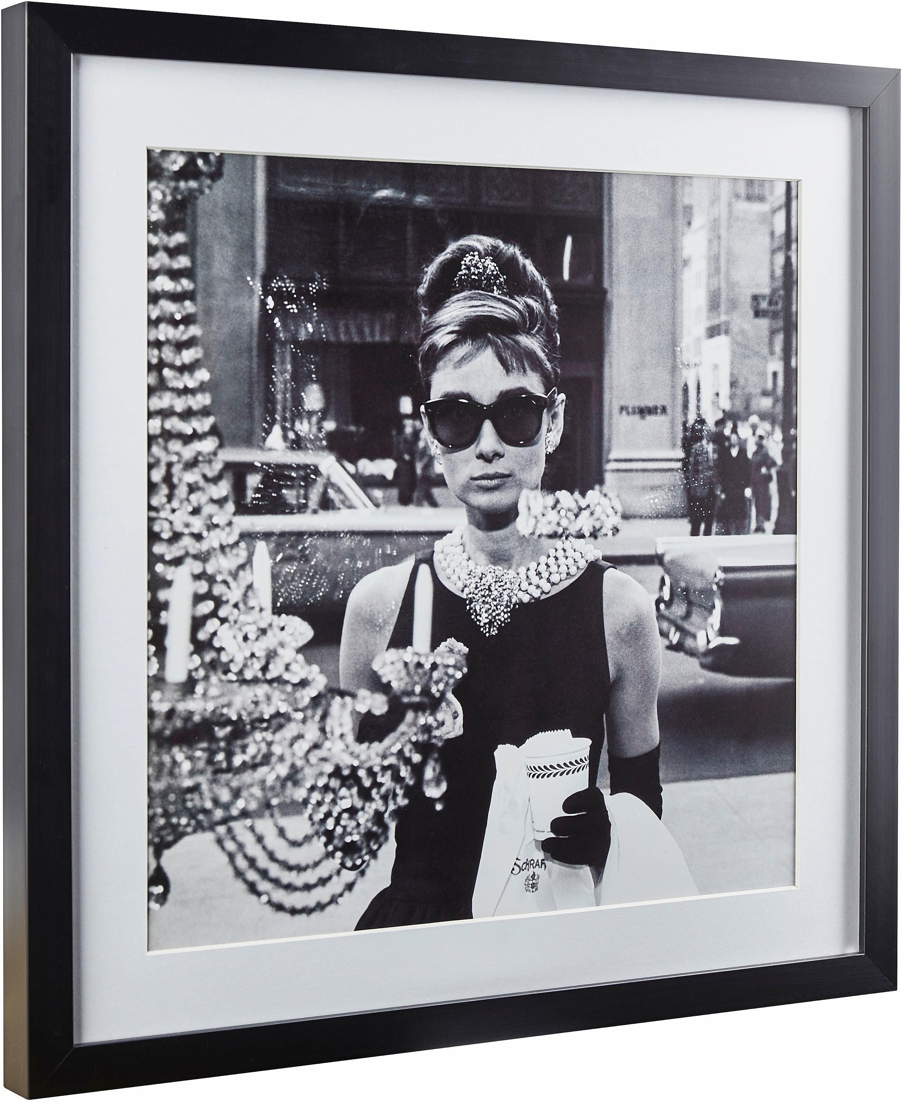 G&C gerahmte Fotografie »Celebrities: Audrey Hepburn Motiv 1«, 40/40 cm