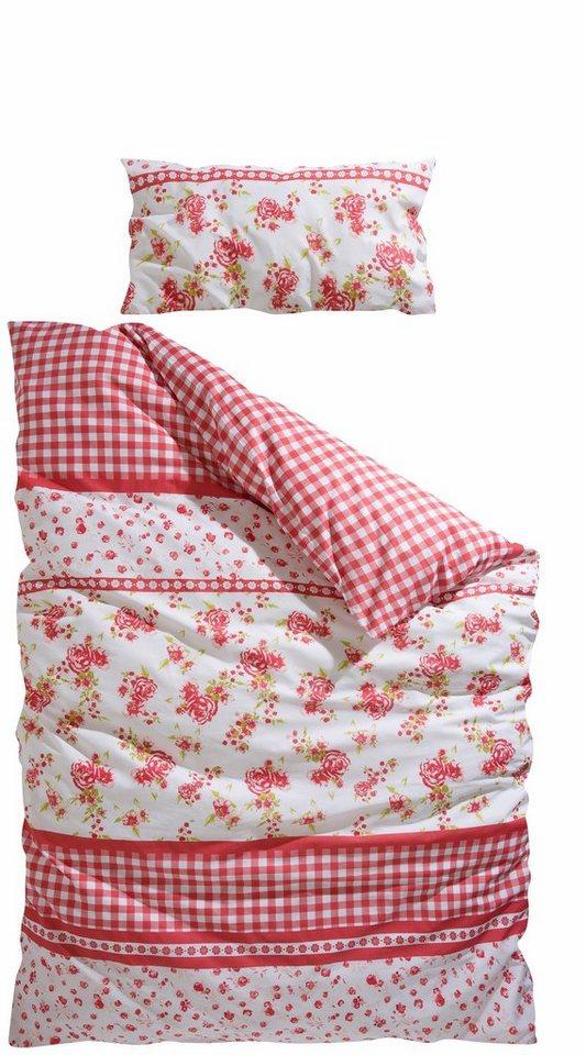 Bettwäsche, Home affaire Collection, »Hannah«, mit kleinen Blüten in rosé