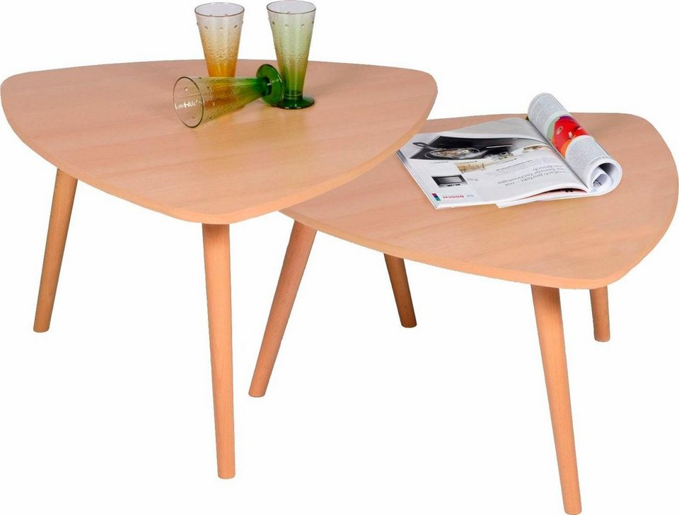 Satztisch in Wankelform in buche/buche