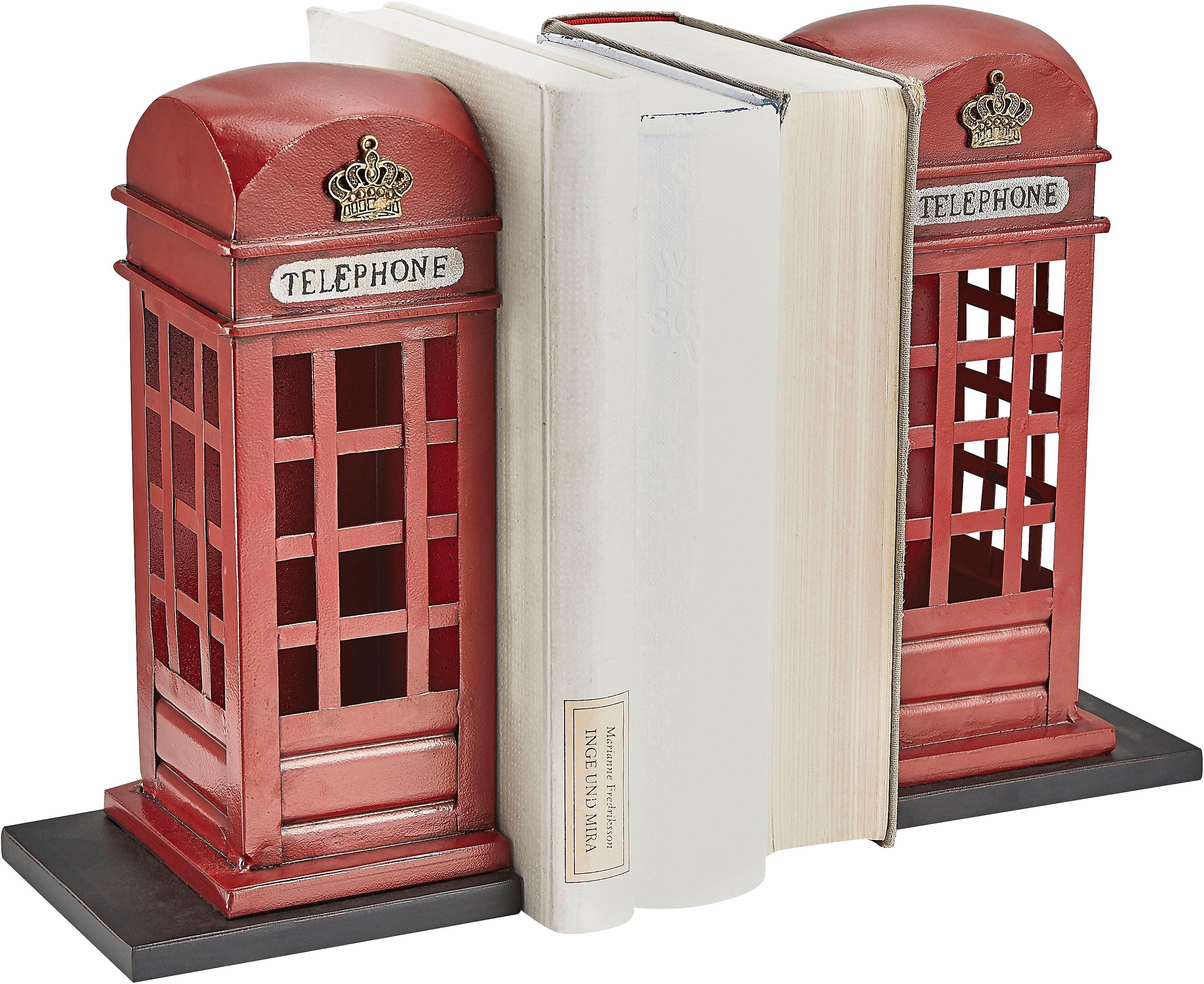 Home affaire Buchstützen »Telefonzelle« (2-tlg.)
