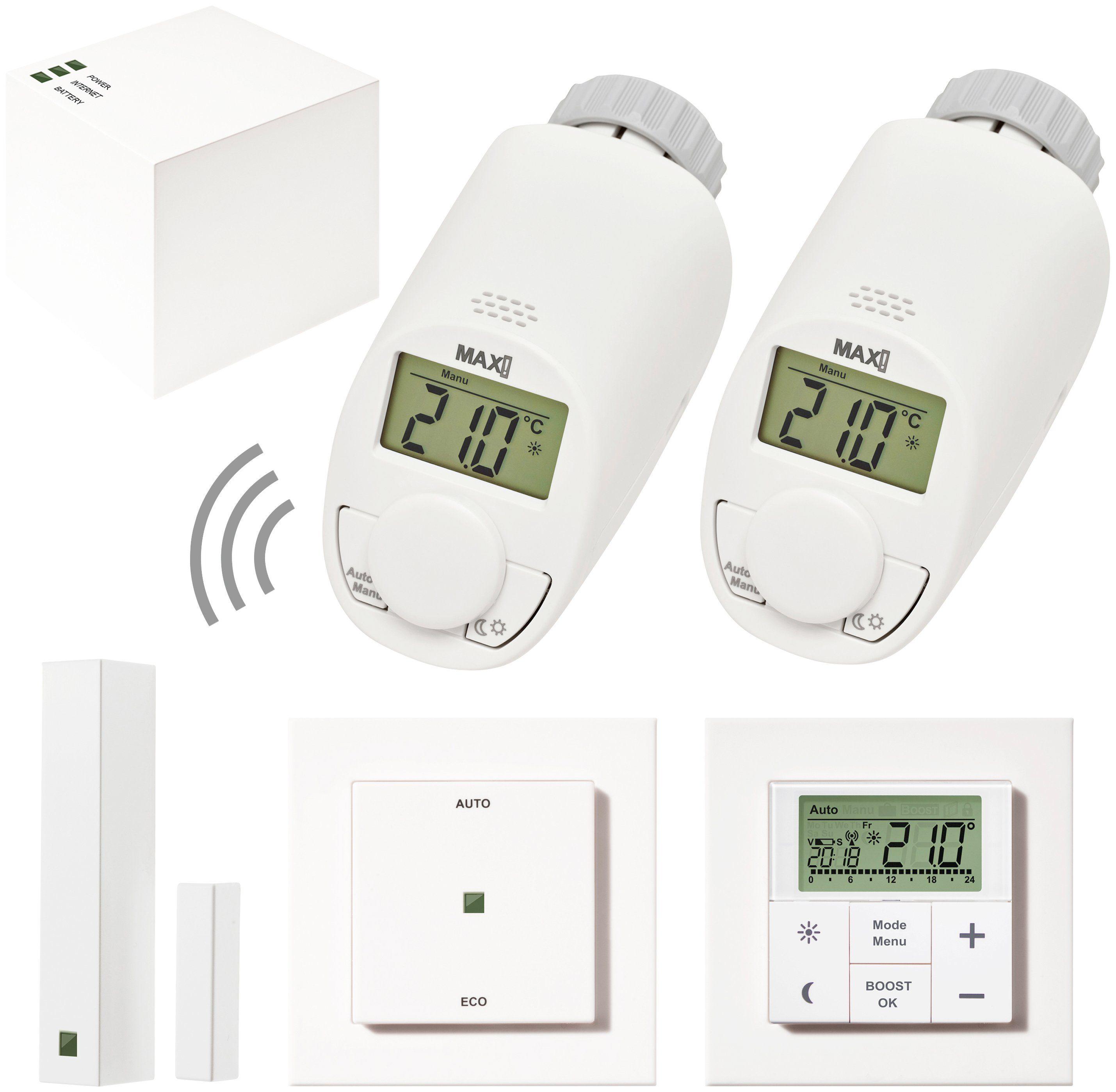MAX! Smart Home Set »Hauslösung Premium«, 6-tlg., Heizkörperthermostat / Gateway / Fensterkontakt