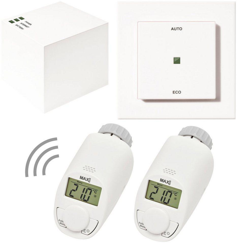 Smart Home Set »Hauslösung Eco«, 4-tlg., Heizkörperthermostat / Gateway / Eco-Taster in weiß