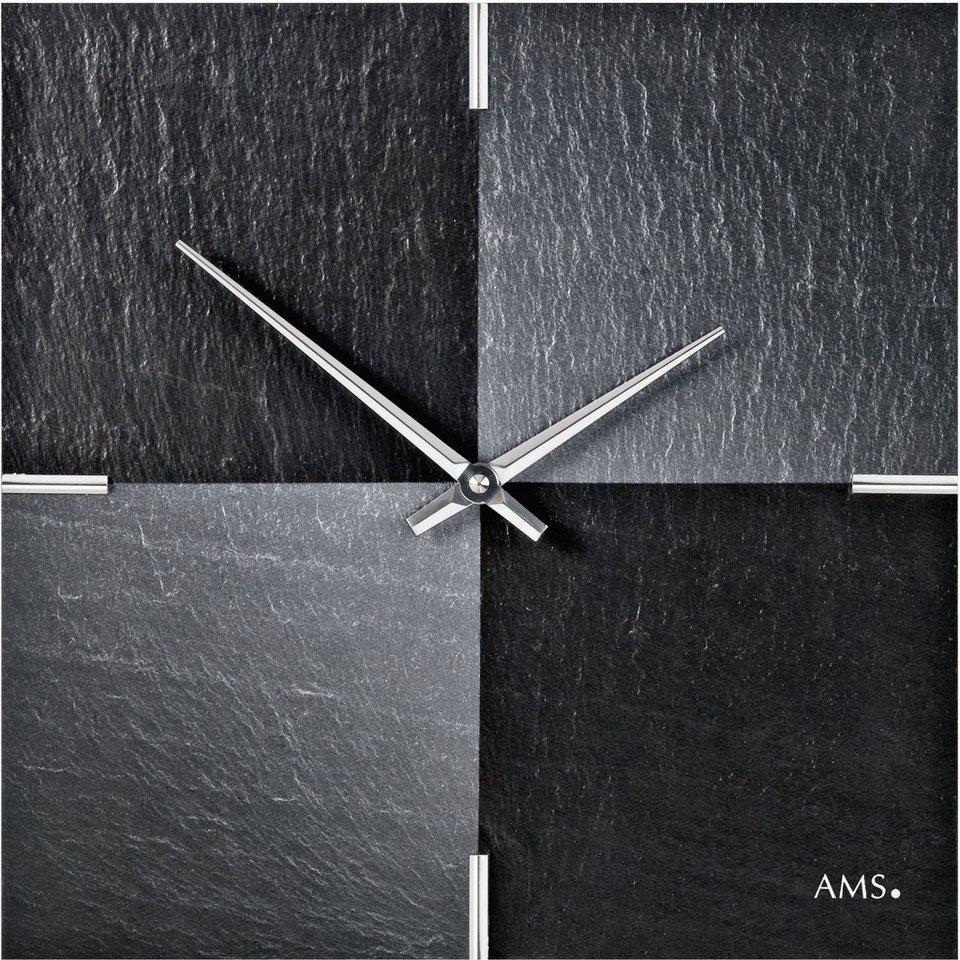 AMS Wanduhr, »W9520« in schwarz