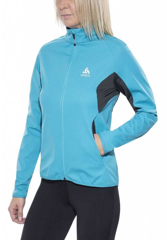 Odlo Trainingsjacke »Stryn Softshell Jacket Women« in blau