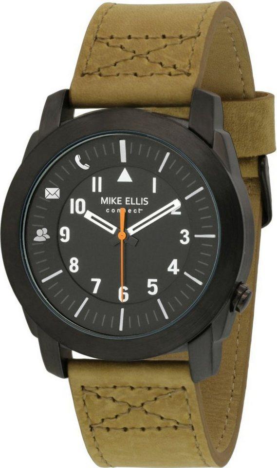 Mike Ellis Connect Smartwatch »Watch Rocky Edelstahl, Leder« in Braun-Schwarz