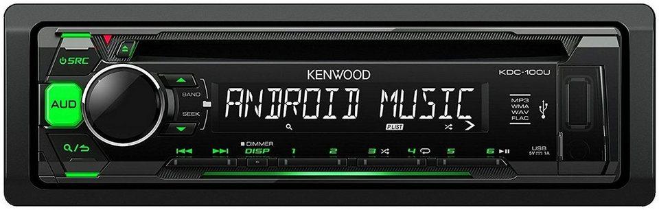 Kenwood 1 DIN Digitalautoradio »KDC-110UG« in schwarz