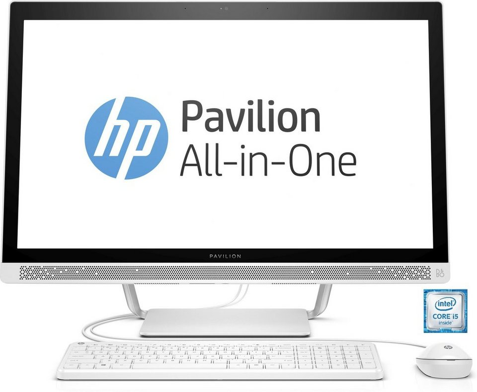 """HP Pavilion 27-a153ng All-In-One PC »Intel Core i5, 68,6cm (27""""), 128 GB + 1 TB, 8GB« in weiß"""