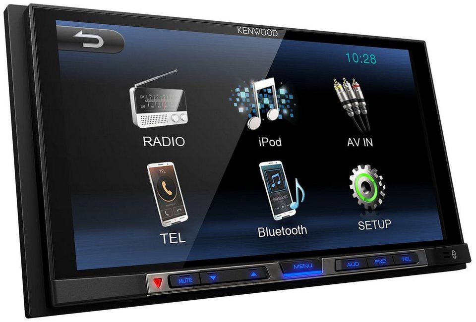 Kenwood 2 DIN Moniceiver mit Bluetooth »DMX100BT« in schwarz