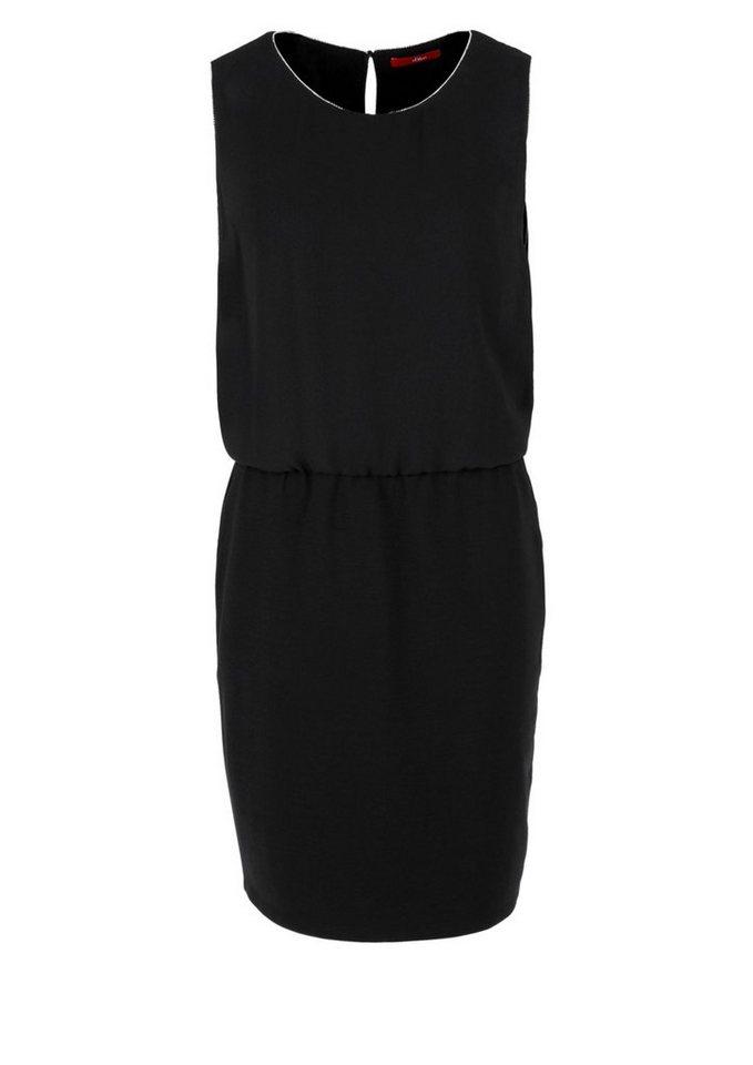 s.Oliver RED LABEL Kleid im Materialmix in black