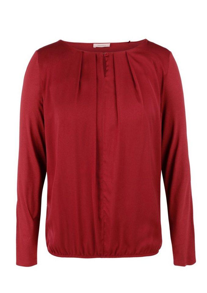 TRIANGLE Blusenshirt mit Falten-Detail in red