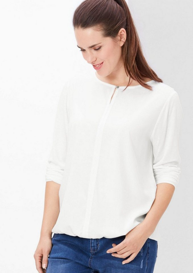 TRIANGLE Blusenshirt mit Knöpfchen in off-white