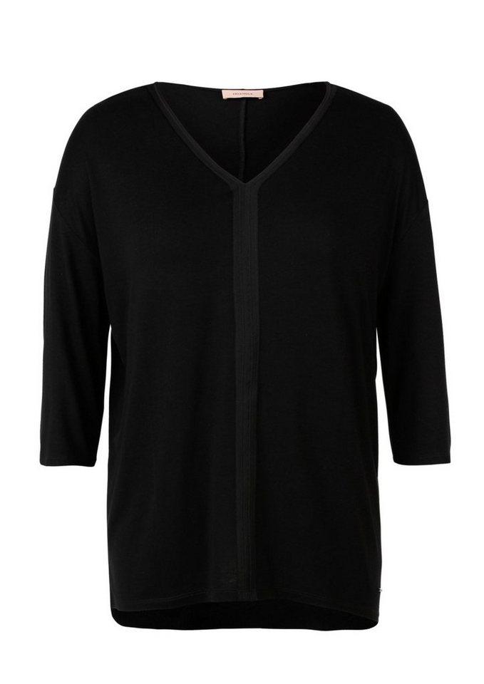 TRIANGLE T-Shirt mit 3/4-Arm in black