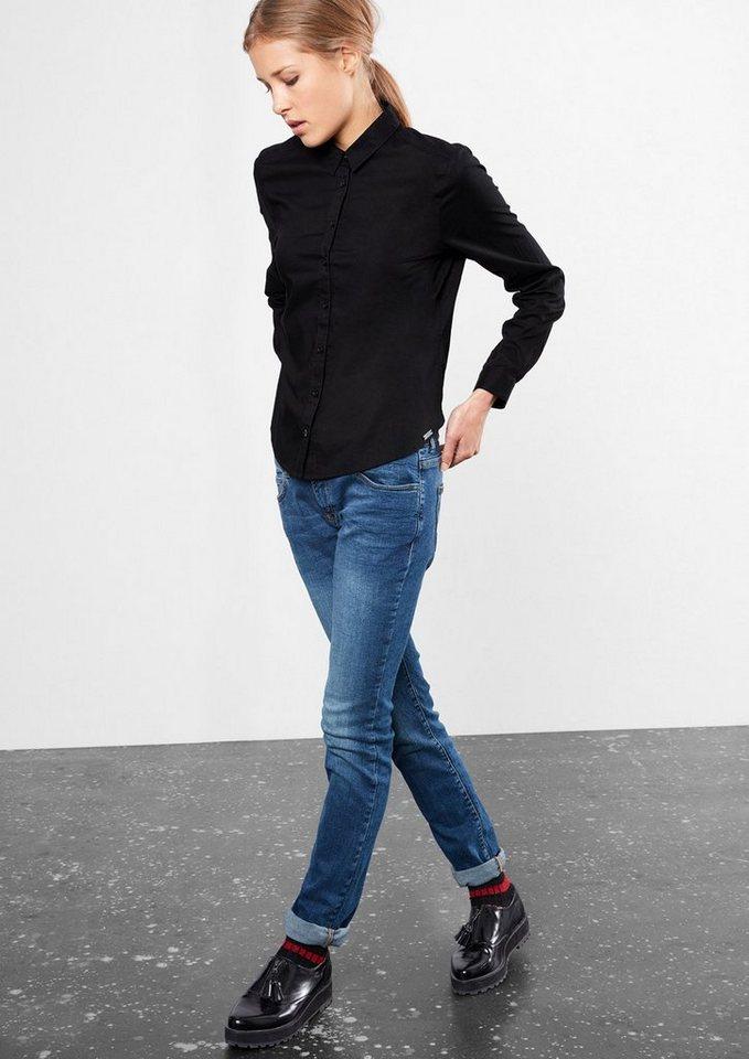 Q/S designed by Leichte Bluse aus Baumwolle in black