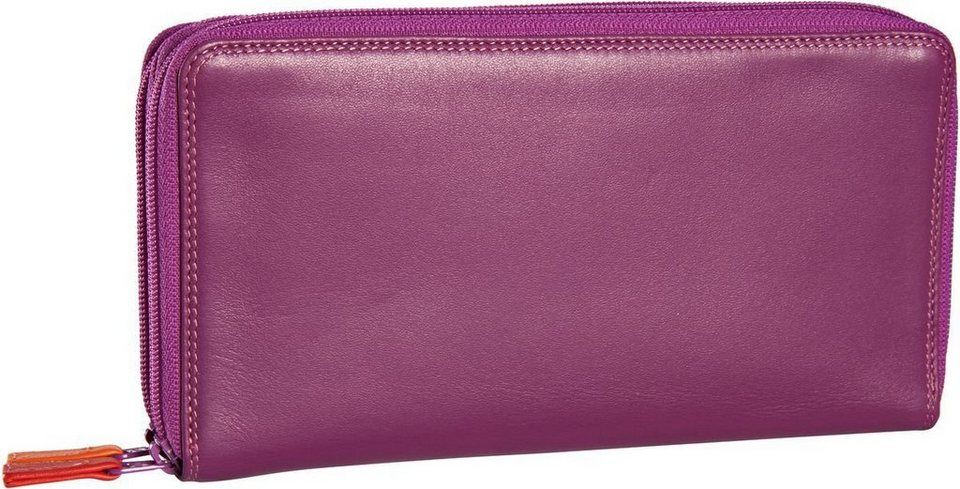 Mywalit Large Double Zip Around Purse in Sangria Multi