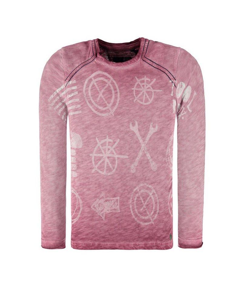 Marc O'Polo Junior T-Shirt langärmlig Tool Print 1 in Lila