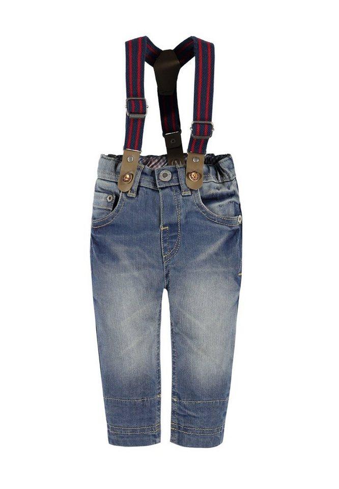 Steiff Collection Hose Jeans mit Hosenträgern 1 in Dunkelblau