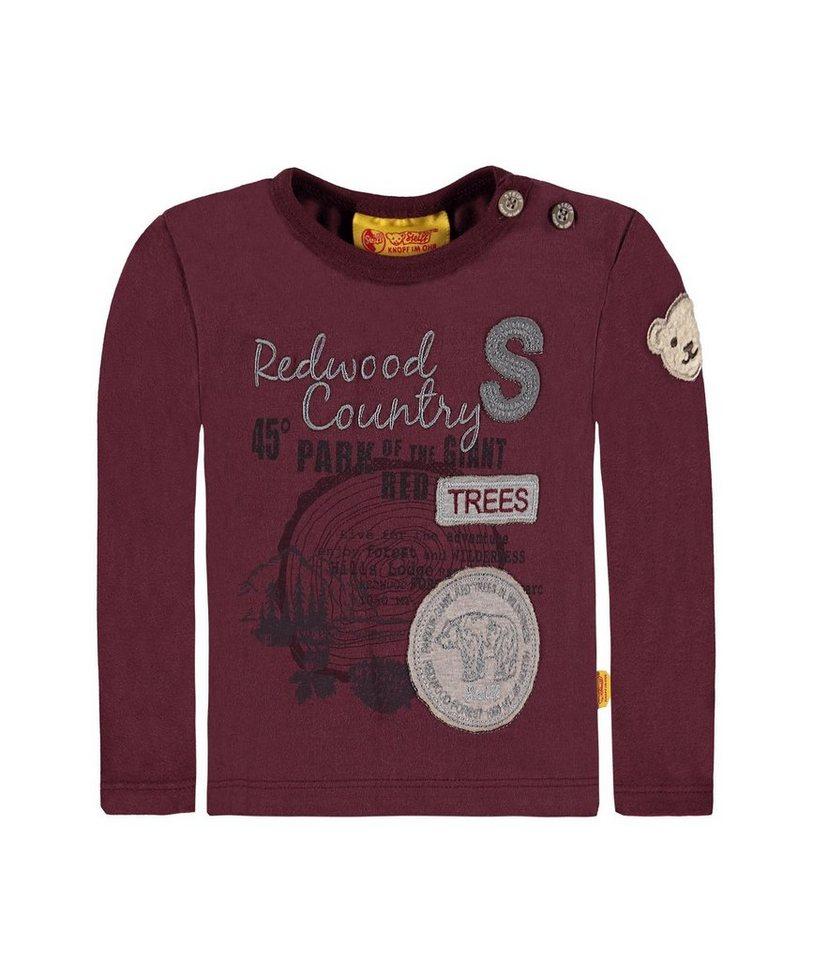 Steiff Collection T-shirt langärmlig 1 in Dunkelrot