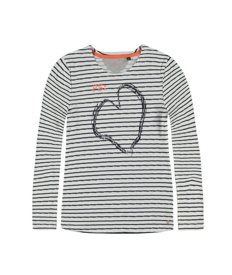 Marc O'Polo Junior T-Shirt langärmlig Herz Print 1 in Mehrfarbig