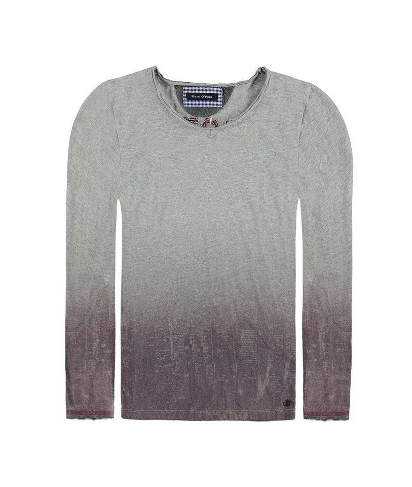 Marc O'Polo Junior T-Shirt langärmlig Stockholm Print 1 in Grau