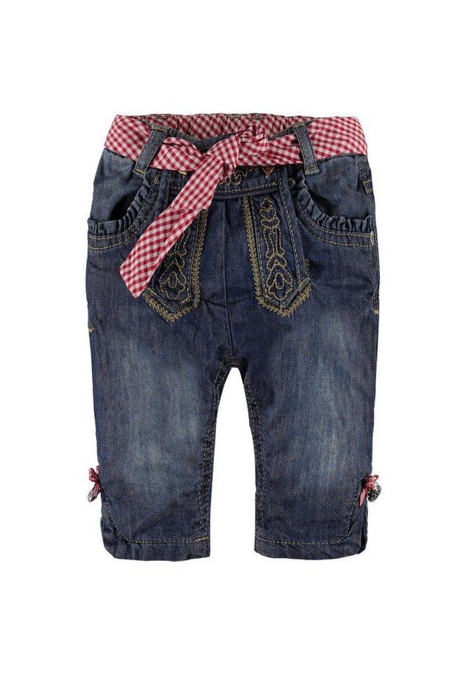 Steiff Collection Kniebundhose Jeans 1 in Denimblau