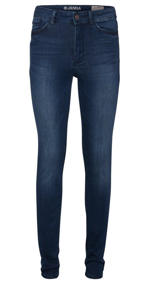 TOM TAILOR DENIM Jeans »blaue Janna Denim« in moon wash mid blue d