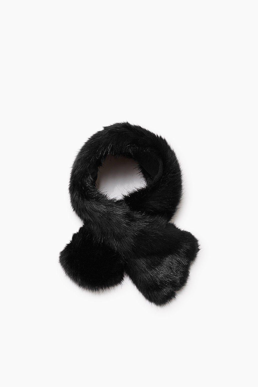 ESPRIT CASUAL Schal aus Kunstpelz mit Fleece-Unterseite