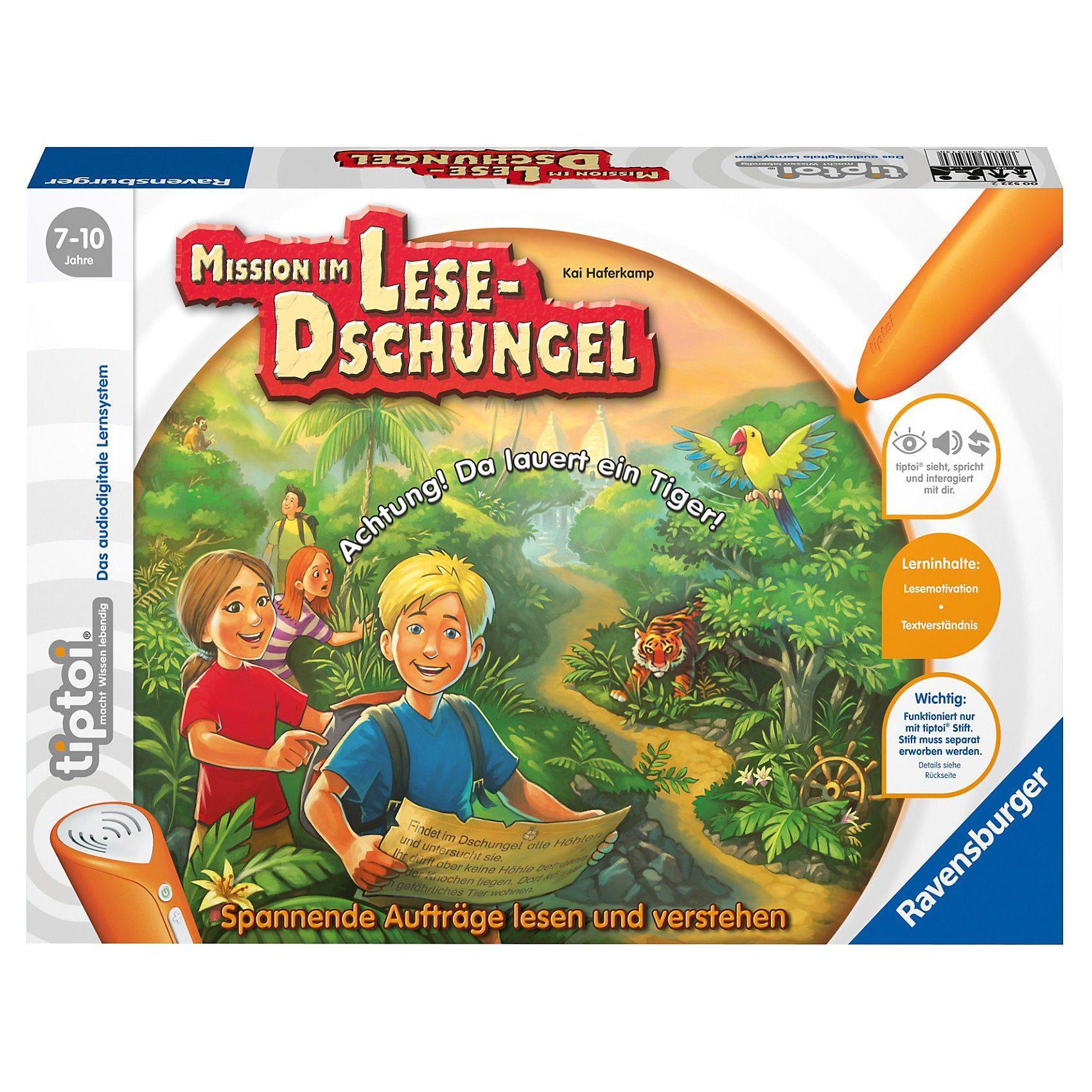 Ravensburger tiptoi Spiel Lese-Dschungel (ohne Stift)