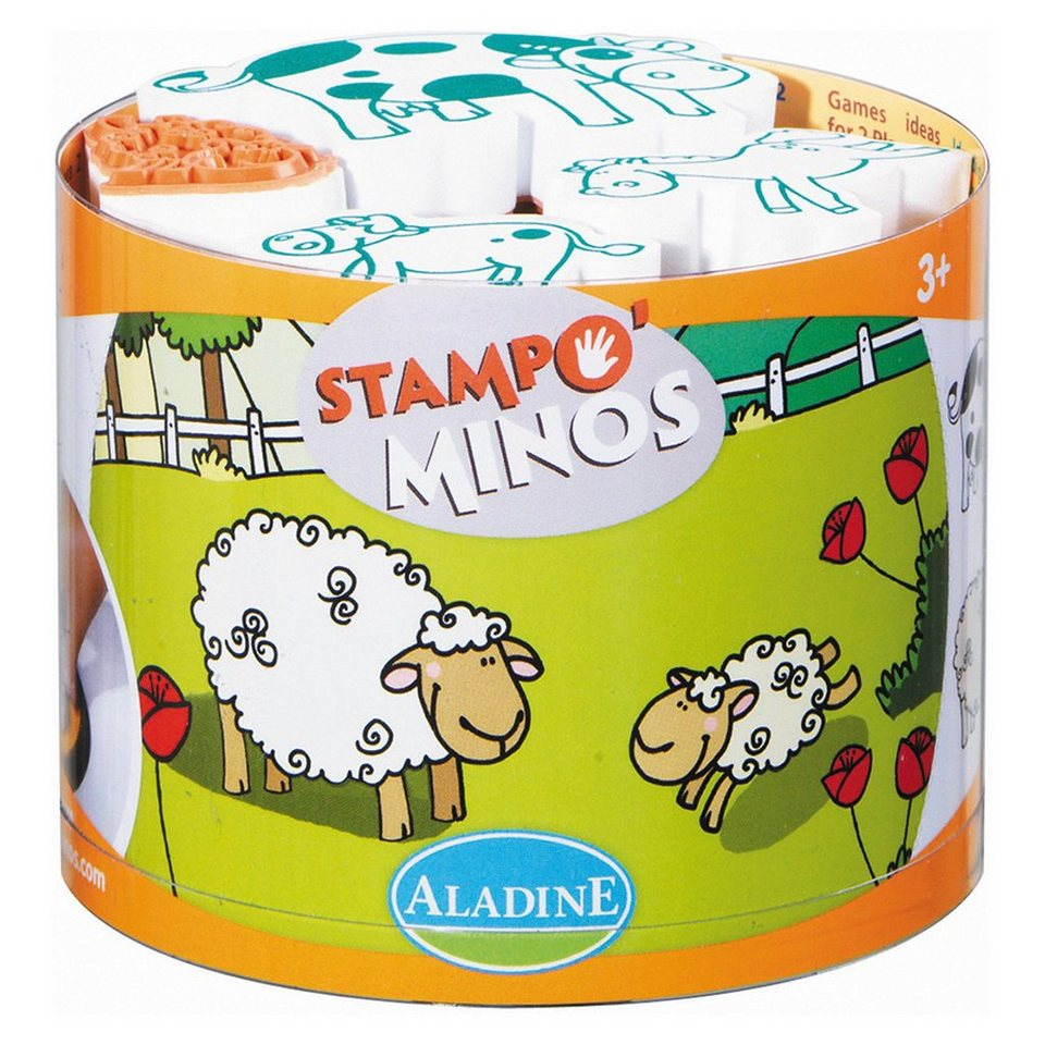 Aladine STAMPO& 39;MINOS Midi-Stempelset Bauernhof, 11-tlg. online kaufen