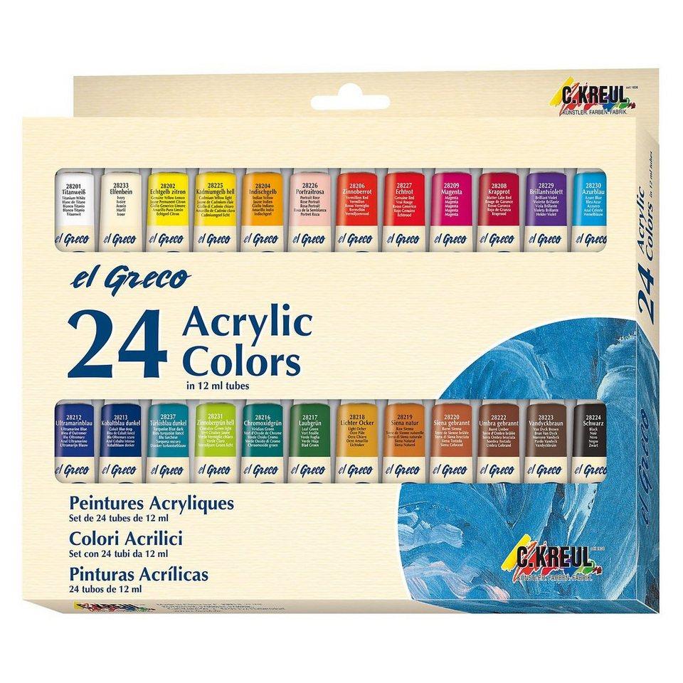 C. KREUL EL GRECO Acrylfarben, 24 x 12 ml
