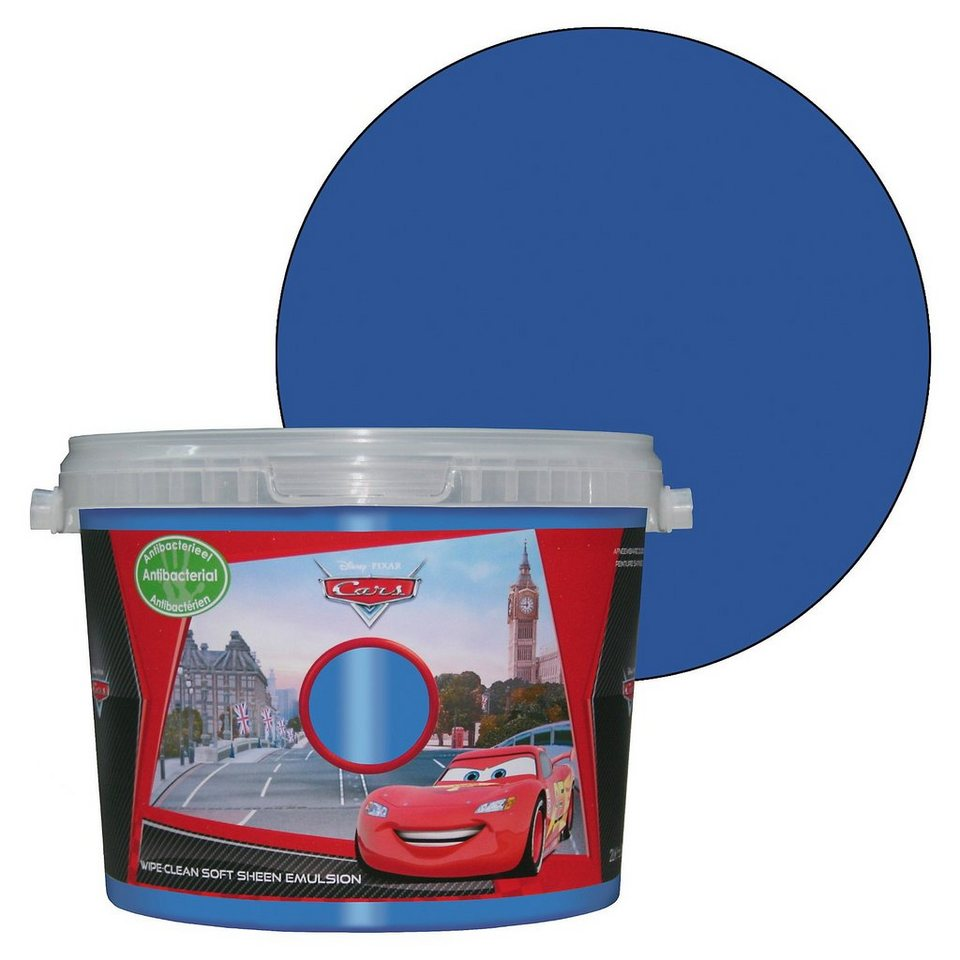 Decofun Wand- Farbe Cars, Mater the greater, 2 Liter in blau