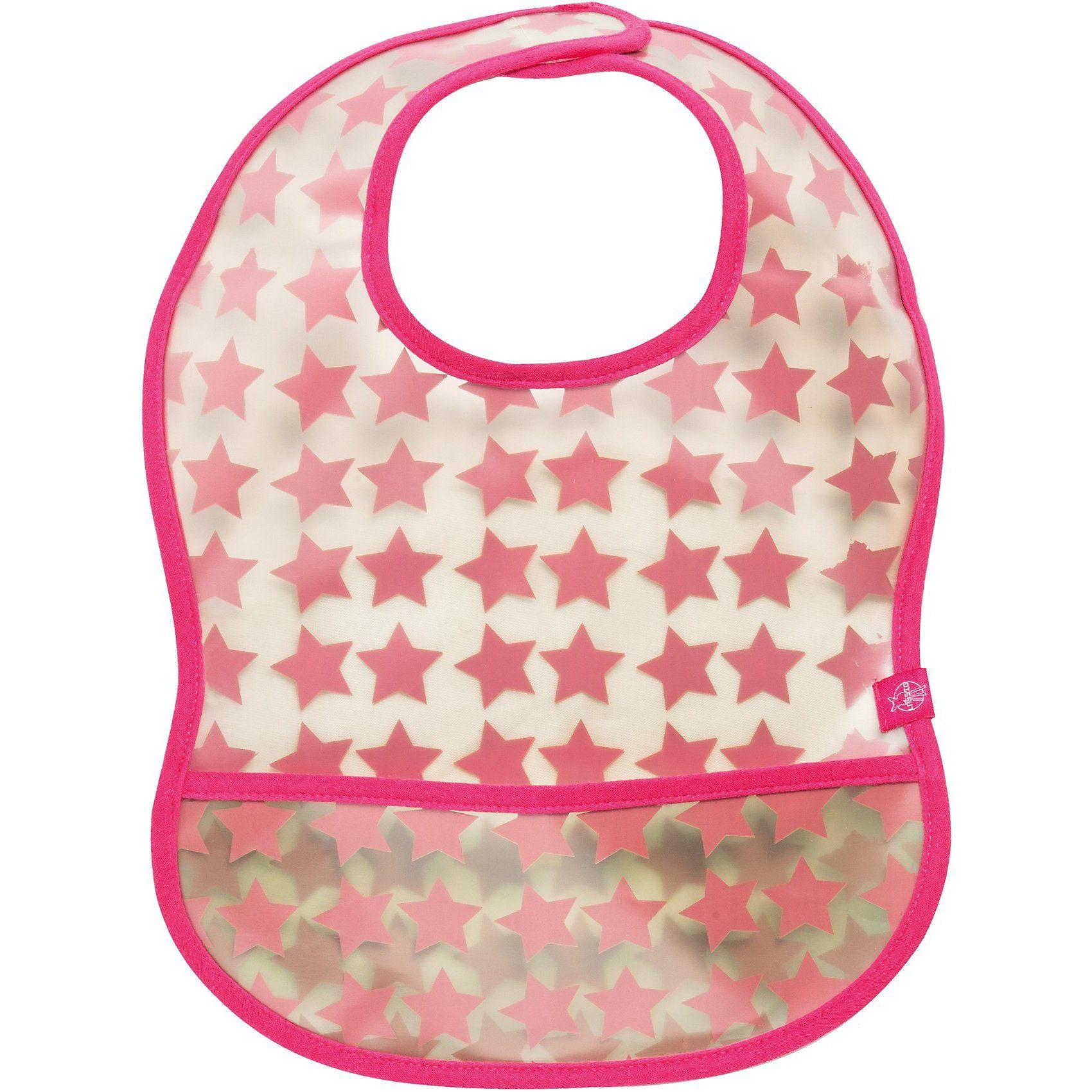 Lässig Lätzchen mit Auffangtasche, Starlight magenta