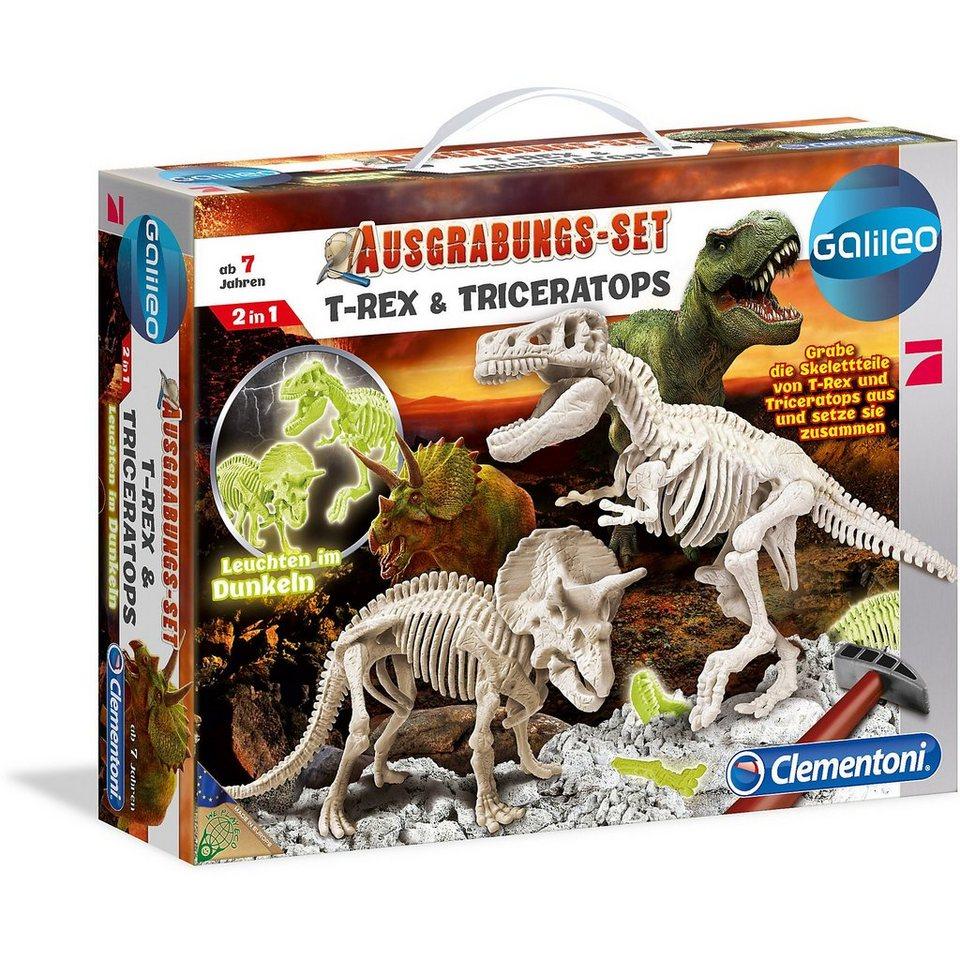 Clementoni® Galileo - Ausgrabungs-Set T-Rex & Triceratops online kaufen