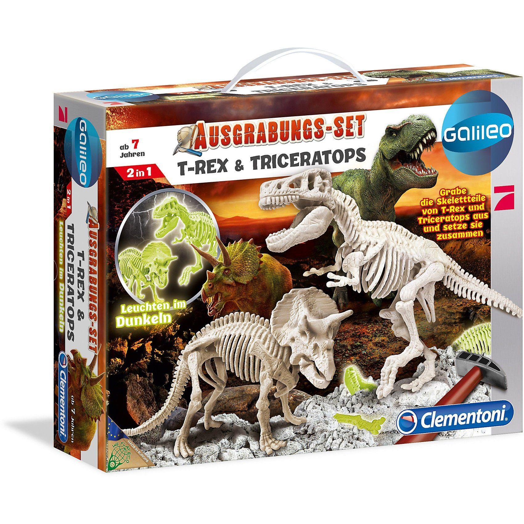 Clementoni Galileo - Ausgrabungs-Set T-Rex & Triceratops