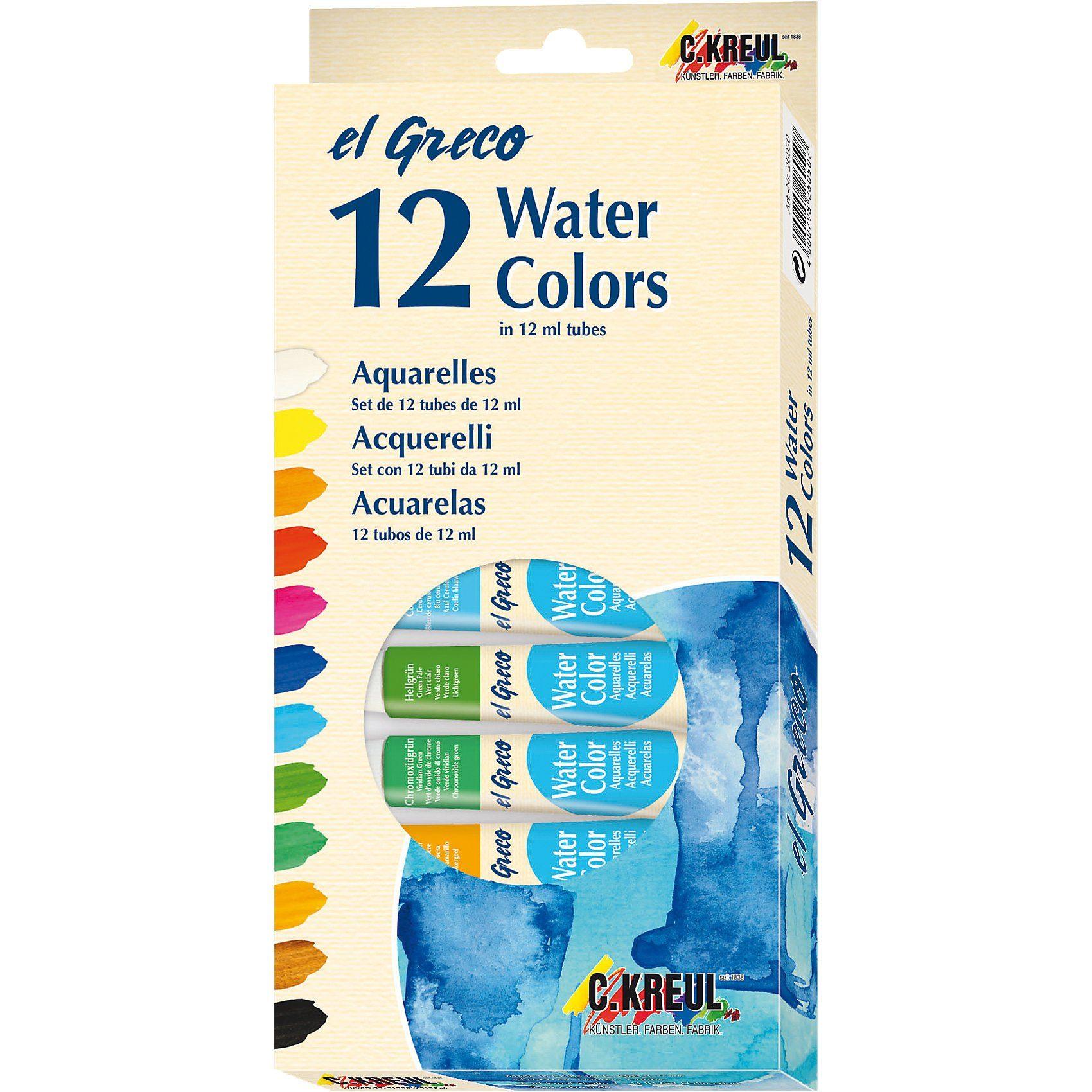 C. KREUL EL GRECO Aquarellfarben, 12 x 12 ml