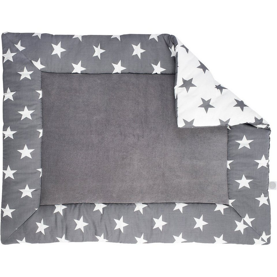 jollein krabbeldecke little star grau 80 x 100 cm online kaufen otto. Black Bedroom Furniture Sets. Home Design Ideas