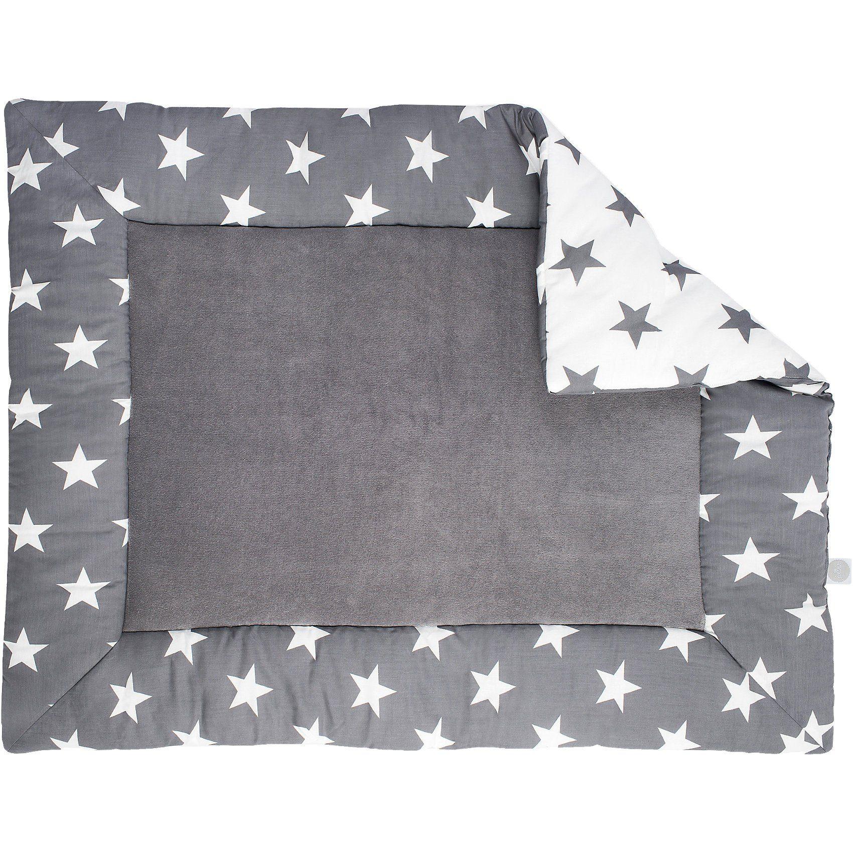 Jollein Krabbeldecke, Little Star, grau, 80 x 100 cm