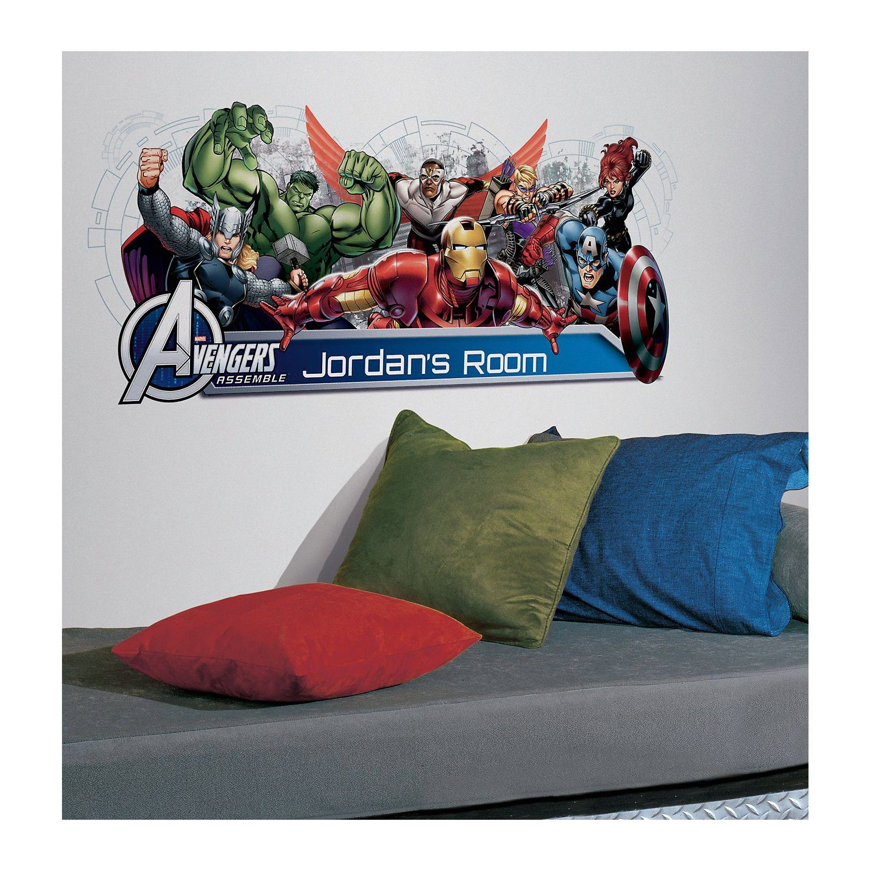 RoomMates MYAGENCIES RMK2240GM Wandsticker, The Avengers, 102 cm