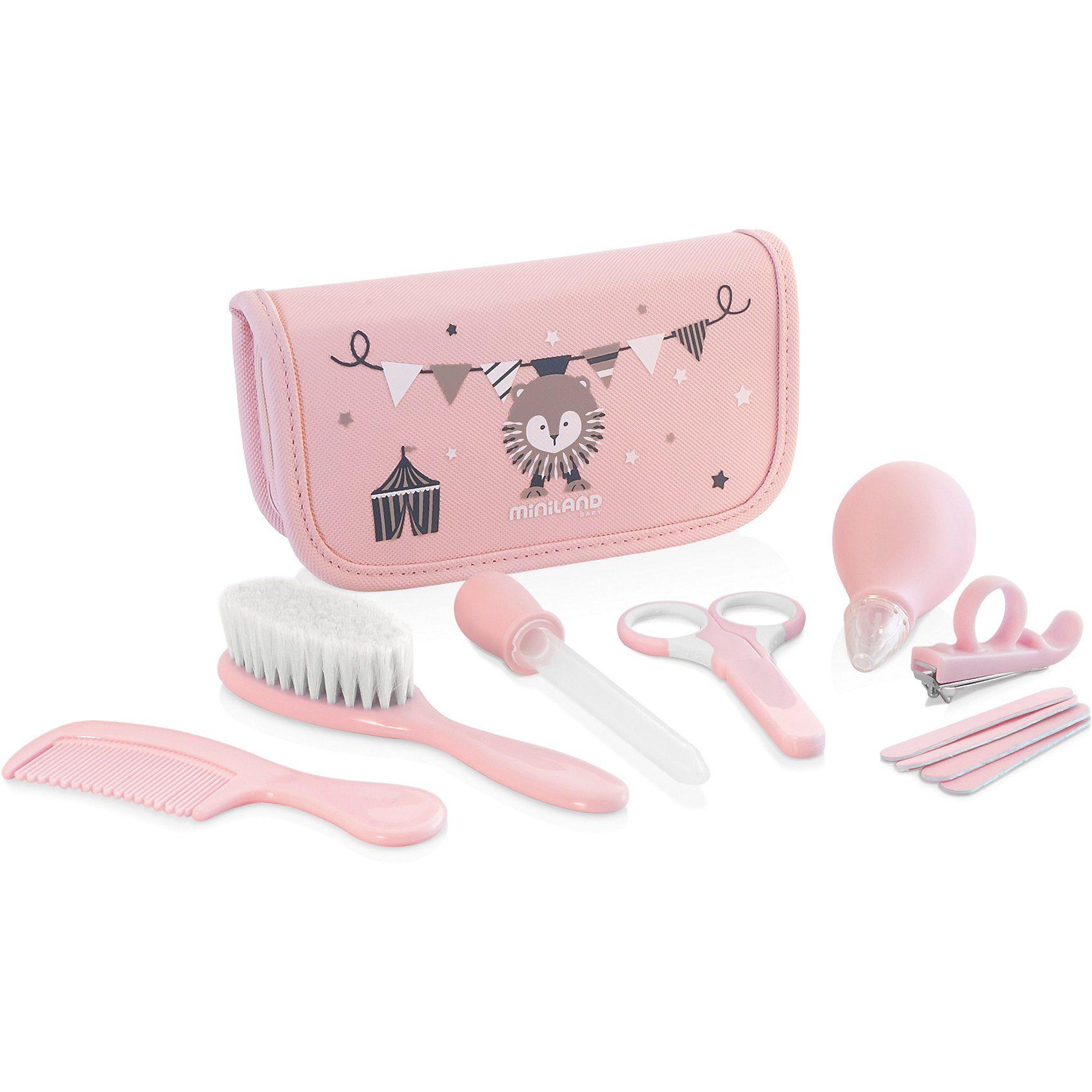 Miniland Pflegeset Baby Kit, pink