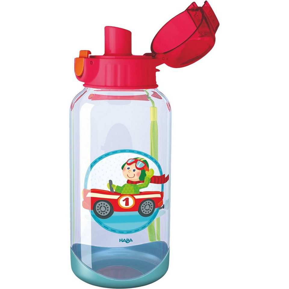 Haba 300533 Trinkflasche Flotte Flitzer in rot